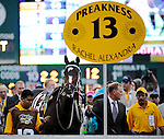 16 May 09: Rachel Alexandra in the paddock before the Preakness Stakes at Pimlico Race Course in Baltimore, Maryland on Preakness Day.
