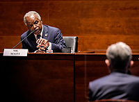 United States Representative David Scott (Democrat of Georgia) questions Jerome H. Powell, Chair of the Board of Governors of the Federal Reserve System, during the US House Committee on Financial Services hearing on Oversight of the Treasury Department and Fed Reserve Pandemic response in Washington, DC on June 30, 2020.<br /> Credit: Bill O'Leary/CNP/AdMedia