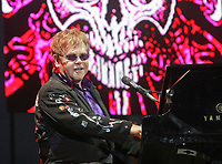 Elton John performs at the 44th Festival d'ete de Quebec on the Plains of Abraham in Quebec city Saturday July 9, 2011. The Festival d'ete de Quebec is Canada's largest music festival with more than 1000 artists and close to 400 shows over 11 days.