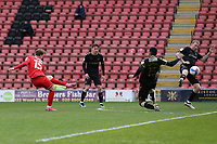 Dan Kemp of Leyton Orient scores the second goal for his team during Leyton Orient vs Oldham Athletic, Sky Bet EFL League 2 Football at The Breyer Group Stadium on 27th March 2021