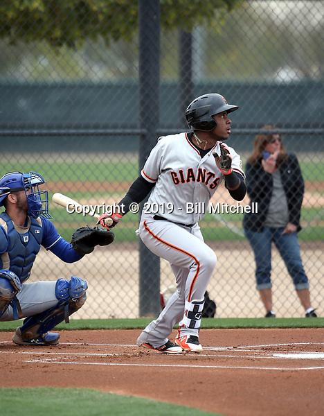 Manuel Geraldo - San Francisco Giants 2019 spring training (Bill Mitchell)