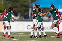 Bradenton, FL - Sunday, June 12, 2018: Nicole Perez, Alison Gonzalez, goal celebration during a U-17 Women's Championship Finals match between USA and Mexico at IMG Academy.  USA defeated Mexico 3-2 to win the championship.
