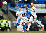 St Johnstone v Celtic.....14.02.15<br /> Chris Millar and Anthony Stokes<br /> Picture by Graeme Hart.<br /> Copyright Perthshire Picture Agency<br /> Tel: 01738 623350  Mobile: 07990 594431