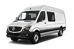 2017 Mercedes Benz Sprinter-Crew-Van 2500-170-WB-High-Roof 4 Door Combi Angular Front stock photos of front three quarter view