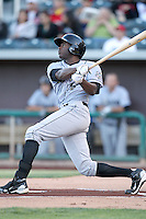 Lorenzo Cain #18 of the Omaha Storm Chasers plays in a Pacific Coast League game against the Albuquerque Istotopes at Isotopes Park on May 3, 2011  in Albuquerque, New Mexico. .Photo by:  Bill Mitchell/Four Seam Images.