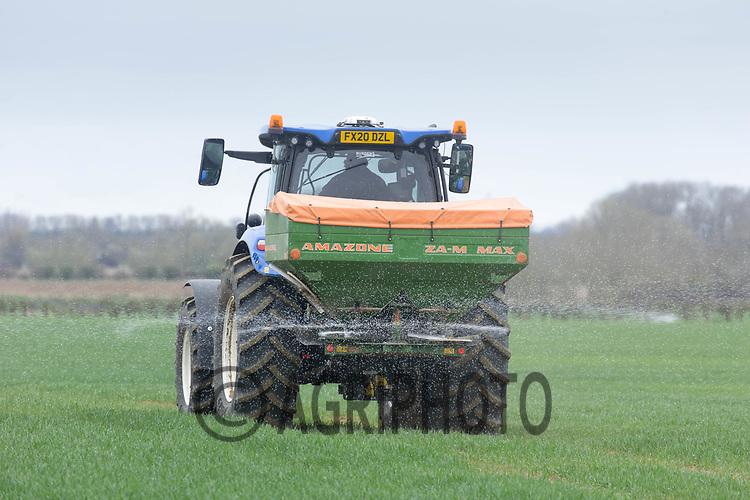 2-4-2021 Applying nitrogen to Winter cereals <br /> ©Tim Scrivener Photographer 07850 303986<br />      ....Covering Agriculture In The UK....