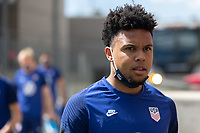 SANDY, UT - JUNE 8: Weston McKennie of the United States during a training session at Rio Tinto Stadium on June 8, 2021 in Sandy, Utah.