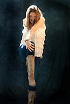 Loral Wright poses for a portrait at Above the Dish Studio in Mill Valley, CA...Styled by Claudia Knaack....