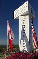 The end of the Alaska Highway sign, Delta Junction, Alaska