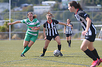 Action from the Capital Football Kelly Cup women's football semifinal between Waterside Karori and Palmerston North Marist at Alex Moore Park in Johnsonville, New Zealand on Saturday, 27 March 2021. Photo: Dave Lintott / lintottphoto.co.nz