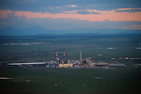 Comanche Power Plant at Dusk on summer night.  Aug 8, 2014. 811825