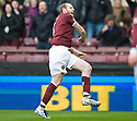 HEARTS' CRAIG BEATTIE SHOWS HIS FRUSTRATION AFTER HIS GOAL WAS CHOPPED OFF FOR OFFSIDE