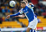 St Johnstone v Inverness Caley Thistle.....27.04.13      SPL.Mehdi Abeid battles with Richie Foran.Picture by Graeme Hart..Copyright Perthshire Picture Agency.Tel: 01738 623350  Mobile: 07990 594431