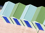 ITA, Italien, Kampanien, Sorrento: Umkleidekabinen am Lido | ITA, Italy, Campania, Sorrento: changing cabins at beach