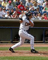August 24, 2003:  Omar Vizquel of the Lake County Captains, Class-A affiliate of the Cleveland Indians, during a South Atlantic League game at Classic Park in Eastlake, OH.  Vizquel was on rehab assignment from the Cleveland Indians.  Photo by:  Mike Janes/Four Seam Images
