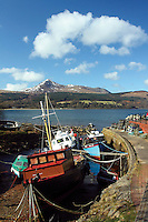Goat Fell from Brodick Harbour, Brodick, Isle of Arran, Ayrshire<br /> <br /> Copyright www.scottishhorizons.co.uk/Keith Fergus 2011 All Rights Reserved