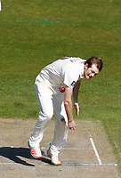 16th April 2021; Emirates Old Trafford, Manchester, Lancashire, England; English County Cricket, Lancashire versus Northants;  Tom Taylor of Northamptonshire bowling