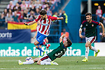 Aitor Bunuel Redrado of Osasuna (R) trips up with Yannick Ferreira Carrasco of Atletico de Madrid (L) during the La Liga match between Atletico de Madrid vs Osasuna at the Estadio Vicente Calderon on 15 April 2017 in Madrid, Spain. Photo by Diego Gonzalez Souto / Power Sport Images