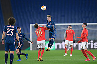 18th February 2021, Rome, Italy;  Martin Odegaard of Arsenal FC competes for the ball with Luca Waldschmidt during the UEFA Europa League round of 32 Leg 1 match between SL Benfica and Arsenal at Stadio Olimpico, Rome, Italy on 18 February 2021.