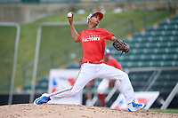 Frankelyn Feliz (13) delivers a pitch during the Dominican Prospect League Elite Underclass International Series, powered by Baseball Factory, on July 21, 2018 at Schaumburg Boomers Stadium in Schaumburg, Illinois.  (Mike Janes/Four Seam Images)
