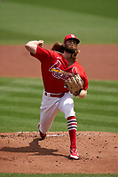 St. Louis Cardinals pitcher John Gant (53) during a Major League Spring Training game against the Houston Astros on March 20, 2021 at Roger Dean Stadium in Jupiter, Florida.  (Mike Janes/Four Seam Images)