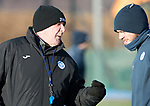 St Johnstone Training…08.12.17<br />Manager Tommy Wright pictured with Murray Davidson at McDiarmid Park today during training ahead of tomorrow's game at Hamilton<br />Picture by Graeme Hart.<br />Copyright Perthshire Picture Agency<br />Tel: 01738 623350  Mobile: 07990 594431