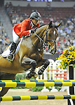 17 April 2009: Beezie Madden (USA) and Danny Boy at the Rolex World Cup Jumping Final II.