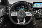 Car pictures of steering wheel view of a 2020 Mercedes Benz C class 43-AMG 2 Door Coupe