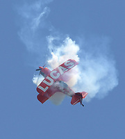 FORT LAUDERDALE, FL - MAY 04: Mike Wiskus in the Lucas Oil Pitts performs in the Fort Lauderdale Air Show on May 4, 2019 in Fort Lauderdale, Florida<br /> <br /> <br /> People:  Mike Wiskus in the Lucas Oil Pitts