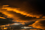 Dramatic stratocumulus clouds at sunset