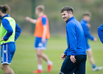 St Johnstone Training…18.10.19<br />Matty Kennedy enjoying himself in training this morning at McDiarmid Park, to the point of having a little dance with himself.<br />Picture by Graeme Hart.<br />Copyright Perthshire Picture Agency<br />Tel: 01738 623350  Mobile: 07990 594431