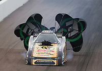 Feb 21, 2020; Chandler, Arizona, USA; NHRA funny car driver Jim Campbell during qualifying for the Arizona Nationals at Wild Horse Pass Motorsports Park. Mandatory Credit: Mark J. Rebilas-USA TODAY Sports