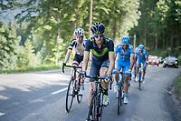 Jesús Herrada (ESP/Movistar)<br /> <br /> stage 7: Aoste > Alpe d'Huez (168km)<br /> 69th Critérium du Dauphiné 2017