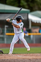 29 August 2019: Vermont Lake Monsters infielder Jordan Diaz in action during a game against the Connecticut Tigers at Centennial Field in Burlington, Vermont. The Lake Monsters fell to the Tigers 6-2 in the first game of their NY Penn League double-header.  Mandatory Credit: Ed Wolfstein Photo *** RAW (NEF) Image File Available ***