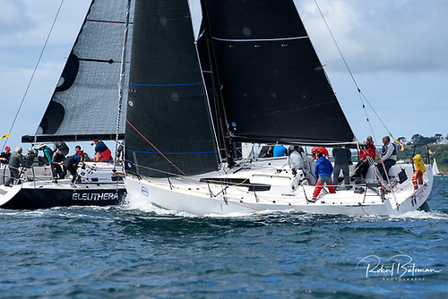 Class Zero yachts Rockabill (on starboard) and Eleuthera competing in the 2019 Calves Week. Photo: Bob Bateman