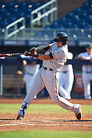 Scottsdale Scorpions Ryder Jones (32), of the San Francisco Giants organization, during a game against the Peoria Javelinas on October 22, 2016 at Peoria Stadium in Peoria, Arizona.  Peoria defeated Scottsdale 3-2.  (Mike Janes/Four Seam Images)