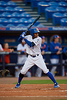 St. Lucie Mets Hansel Moreno (9) during a Florida State League game against the Florida Fire Frogs on April 12, 2019 at First Data Field in St. Lucie, Florida.  Florida defeated St. Lucie 10-7.  (Mike Janes/Four Seam Images)