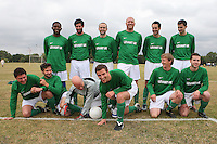 Lockers FC players pose for a team photo at Hackney Marshes - 13/09/09 - MANDATORY CREDIT: Gavin Ellis/TGSPHOTO - Self billing applies where appropriate - Tel: 0845 094 6026