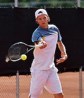 August 9, 2014, Netherlands, Rotterdam, TV Victoria, Tennis, National Junior Championships, NJK,   Guus Koevermans(NED)<br /> Photo: Tennisimages/Henk Koster