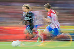 Luka Modric (l) of Real Madrid battles for the ball with Gabriel Fernandez Arenas, Gabi, of Atletico de Madrid during their 2016-17 UEFA Champions League Semifinals 2nd leg match between Atletico de Madrid and Real Madrid at the Estadio Vicente Calderon on 10 May 2017 in Madrid, Spain. Photo by Diego Gonzalez Souto / Power Sport Images
