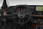 Car pictures of steering wheel view of a 2016 Audi A6  TDI quattro tiptronic Prestige  4 Door Sedan