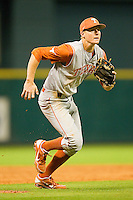 Erich Weiss #6 of the Texas Longhorns charges in from third base during the game against the Tennessee Volunteers at Minute Maid Park on March 3, 2012 in Houston, Texas.  The Volunteers defeated the Longhorns 5-4.  (Brian Westerholt/Four Seam Images)