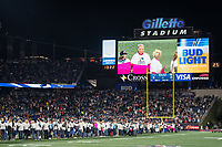 FOXBORO, MA - OCTOBER 10: Gillette stadium tribute to cancer survivors during a game between New York Giants and New England Patriots at Gillettes on October 10, 2019 in Foxboro, Massachusetts.