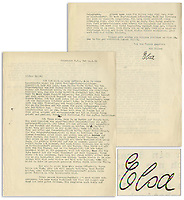 BNPS.co.uk (01202) 558833. <br /> Pic: NateDSanders/BNPS<br /> <br /> Pictured: The two sides the letter written and signed by Einstein's sister Elsa. <br /> <br /> A fascinating letter has emerged which reveals Albert Einstein predicted the evils of Adolf Hitler almost a decade before he came to power.<br /> <br /> The genius mathematician raised concerns to his wife Elsa about the Nazi leader after his release from prison in 1924 following a failed coup.<br /> <br /> He feared for the Jewish population of his homeland after Hitler laid out his anti-semitic political manifesto in Mein Kampf.<br /> <br /> Elsa, writing to her cousin Erich in 1934, describes Einstein as a 'seer' and 'prophet' for having foreseen the perilous path Germany was headed down.