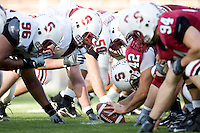 12 April 2007: The team during Stanford's Spring Game at Stanford Stadium in Stanford, CA.