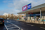 Shoppers visiting an open discount strore in a retail park adjacent to The Riverside stadium Middlesbrough. 16th January 2021, Middlesbrough 0 Birmingham 1, for WSC.
