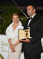 CANNES, FRANCE. July 17, 2021: Frank Graziano & Melanie Thierry at the photocall for Cannes Awards 2021 at the 74th Festival de Cannes.<br /> Picture: Paul Smith / Featureflash