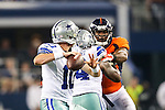 Dallas Cowboys quarterback Dustin Vaughan (10) in action during the pre-season game between the Denver Broncos and the Dallas Cowboys at the AT & T stadium in Arlington, Texas. Denver defeats Dallas 27 to 3.