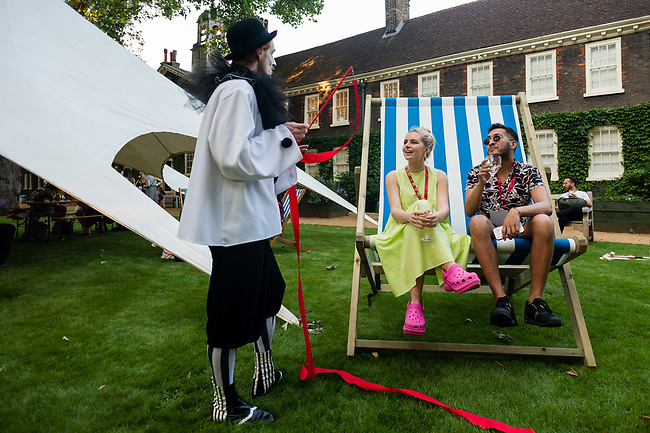 London Christmas Party Show Preview Evening at Shoreditch Gardens in London, Tuesday, 22nd of July 2021. Show Preview Evening – Networking Event at Shoreditch Gardens Photo: AMMP/Maciek Musialek