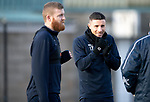 St Johnstone Training….25.01.19          McDiarmid Park<br />Michael O'Halloran and Brian Easton pictured during training this morning<br />Picture by Graeme Hart.<br />Copyright Perthshire Picture Agency<br />Tel: 01738 623350  Mobile: 07990 594431
